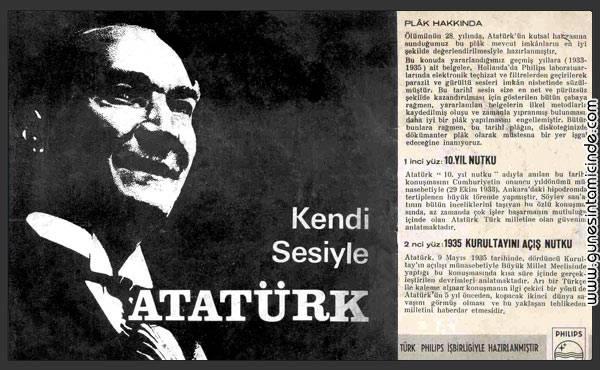 ataturkkendisesi Bu gece webde dolaşırken çok güzel bir tesadüfle Atatürk'ün daha önce işitmediğim bir 45lik plağa çekilmiş 1935 Kurultayını buldum. Bir arkadaş da bilgisayarımızda dinleyebileceğimiz şekilde MP3 formatına dönüştürüp bir yükleme sitesine yollamış. Bu gece webde dolaşırken çok güzel bir tesadüfle Atatürk'ün daha önce işitmediğim bir 45lik plağa çekilmiş 1935 Kurultayını buldum. Bir arkadaş da bilgisayarımızda dinleyebileceğimiz şekilde MP3 formatına dönüştürüp bir yükleme sitesine yollamış.