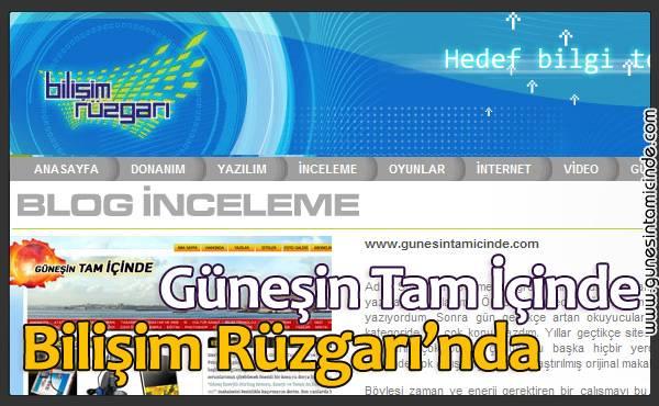 bilisimruzgari1 Geçen pazar günü TRT2'de yayınlanan Bilişim Rüzgarı'nda blog tanıtım köşesi başladı ve Güneşin Tam İçinde sitesi olarak tanıtıldık Geçen pazar günü TRT2'de yayınlanan Bilişim Rüzgarı'nda blog tanıtım köşesi başladı ve Güneşin Tam İçinde sitesi olarak tanıtıldık