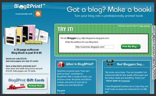 blog2print Tamam dünya dijitale gidiyor. Her şey Internet üzerine gidiyor. Biz sitemizi niye kitap yapmak isteyelim? Tamam dünya dijitale gidiyor. Her şey Internet üzerine gidiyor. Biz sitemizi niye kitap yapmak isteyelim?