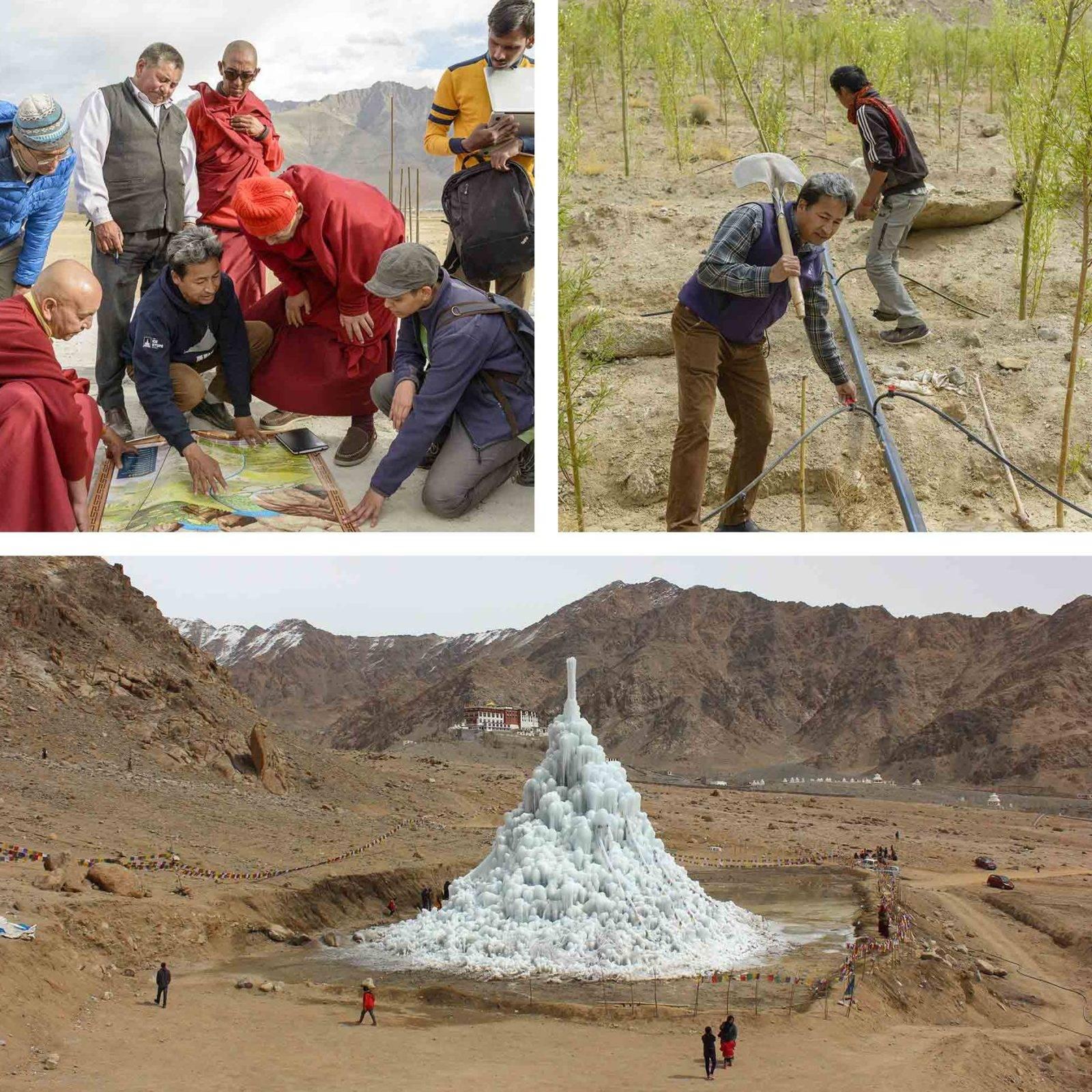 Süleyman Sönmez - Güneşin Tam İçinde buzkulesi04-e1497950775296 Tibet Çölünde Buz Kuleleri | Susuzlukla Mücadele | Ice Stupa Bilim ve Teknoloji Günlük Yaşam Maker / Mucit  Tibet susuzluk Su Elde Etmek Stupa Sonam Wangchuk Rolex Awards kuraklık küresel ısınma Buz Kuleleri Baraj Çöl 3 idiots