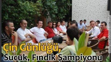 Photo of Çin Günlüğü, Sucuk Ağaçları, Fındık Şampiyonu