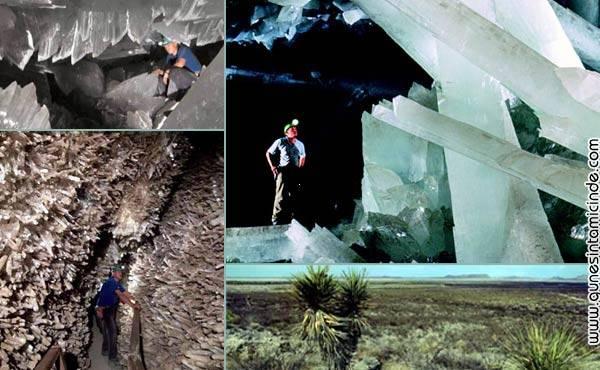 devkristallermagarasi 1 Mexico'da Chihuahuan Çölü'nde bulunan ve eski bir yanardağ olan Naica dağında dünyanın bilinen en büyük kristal formları  bulundu. Bu dev formların boyları 11 metreye ulaşırken, ağırlıkları 55 tona varıyor. Mexico'da Chihuahuan Çölü'nde bulunan ve eski bir yanardağ olan Naica dağında dünyanın bilinen en büyük kristal formları  bulundu. Bu dev formların boyları 11 metreye ulaşırken, ağırlıkları 55 tona varıyor.