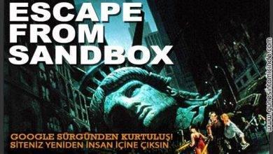 Photo of Escape From Sandbox | SEO'ya Yeni Yaklaşımlar