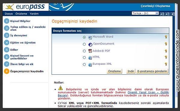 europass2 EuroPass | Evrensel CV Standart Formatı