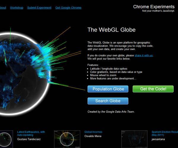 globewebgl Internette 3 Boyutlu Nesneler   WEBGL