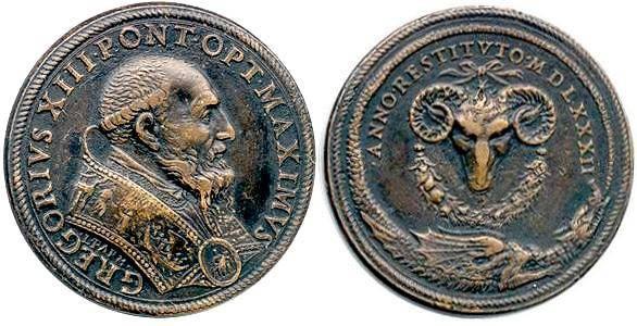 gregoryxiii dragon medal 1582 1 Aslında dünya tarihinde hiç yaşanmadan atlanan 10 gün var. Nasıl olmuş olabilir diyorsanız okuyalım. Aslında dünya tarihinde hiç yaşanmadan atlanan 10 gün var. Nasıl olmuş olabilir diyorsanız okuyalım.