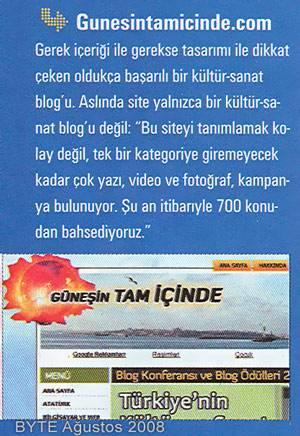 gtibyteagustos2008 Daha önce Chip ve PC Net dergilerinde tanıtılan sitemiz bu ay BYTE'a konuk oldu. Daha önce Chip ve PC Net dergilerinde tanıtılan sitemiz bu ay BYTE'a konuk oldu.