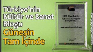 Photo of Türkiye'nin En İyi Kültür Sanat Blogu Seçildik