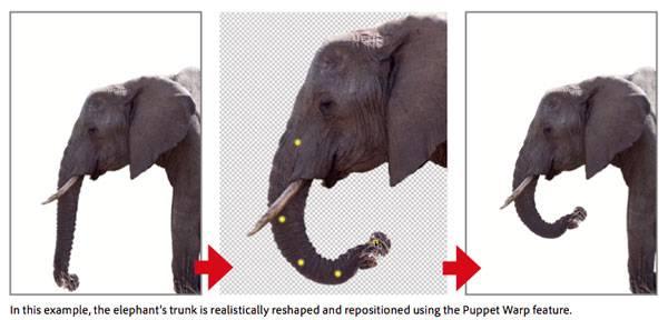 puppetwarp Photoshop CS5 İle Tasarımda Devrim