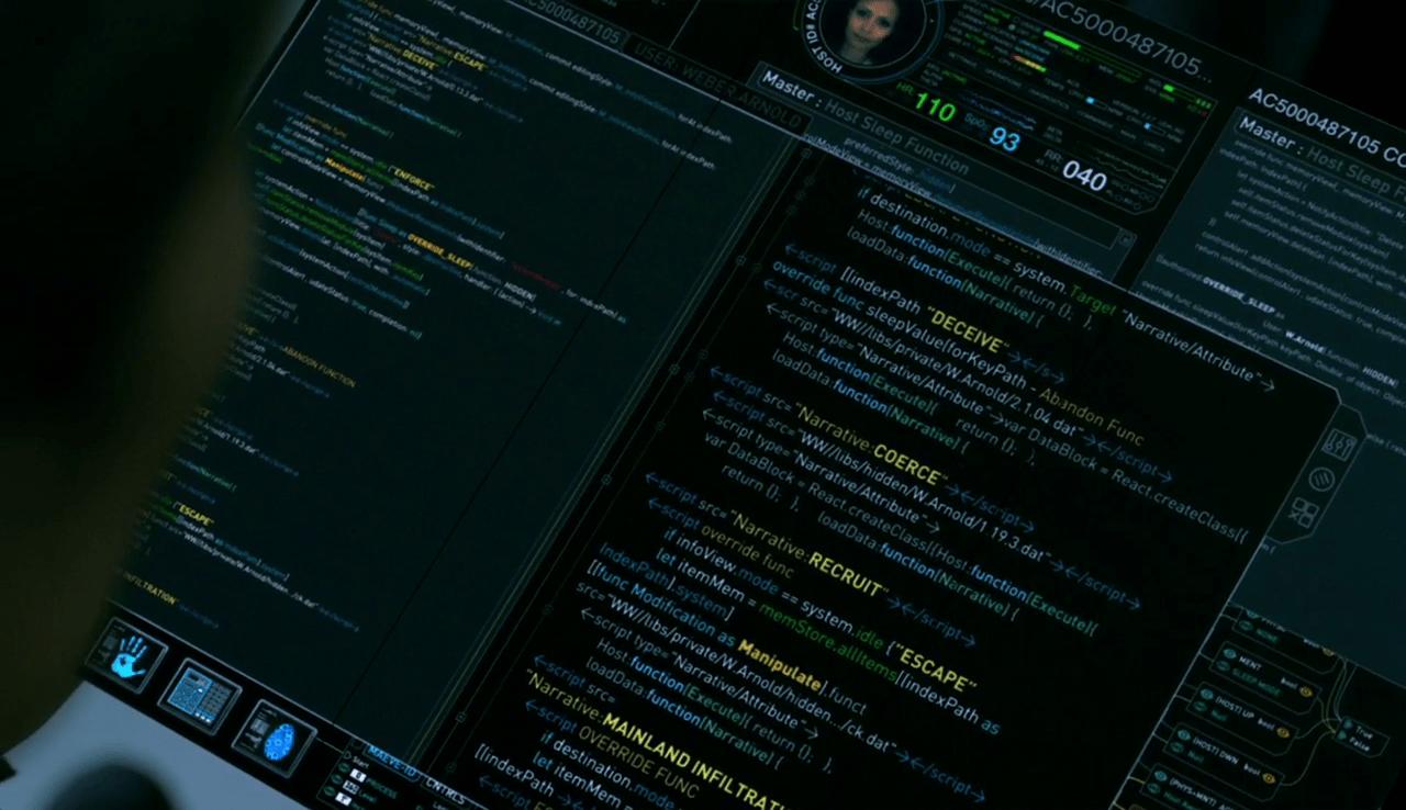 Süleyman Sönmez - Güneşin Tam İçinde westworld_ekran8-1 Westworld Robotlarını Programlamak İster misiniz? Bilim ve Teknoloji Featured Robotlar Sinema-Dizi  İzle Westworld Sinema Robot Programlama robot Kodlama dizi